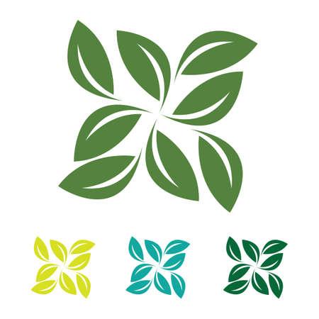 Illustration for eco green leaf logo vector - Royalty Free Image