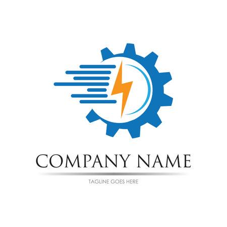 Illustration pour Gear power logo images illustration design template - image libre de droit