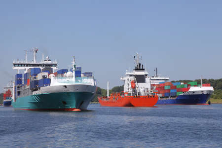 tanker and container ships