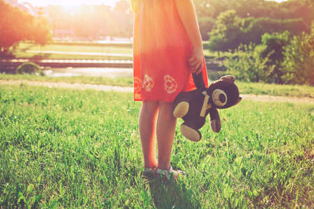 Photo for girl with teddy bear. friendship concept - Royalty Free Image