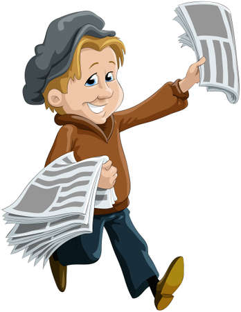 The child the messenger of newspapers