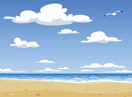 The landscape of Sunny Beach,  illustration