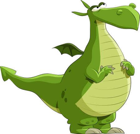 Illustration for Dragon on a white background, illustration - Royalty Free Image