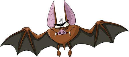 Bat on a white background, illustration