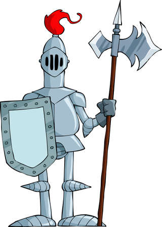 Knight on a white background, vector illustration