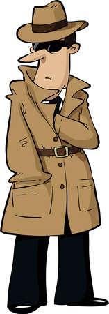 Vektor für Spy hides his hand in his bosom  - Lizenzfreies Bild