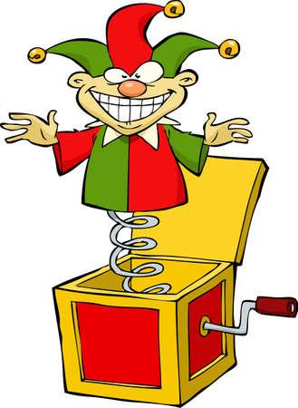 Cartoon Jack in the box illustration