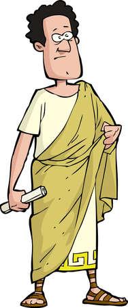 Illustration pour Roman senator on a white background  - image libre de droit