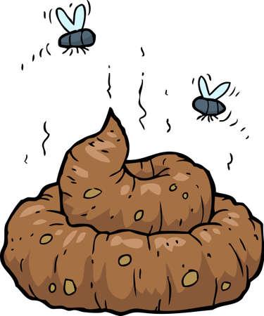 Illustration for Poop on a white background vector illustration - Royalty Free Image