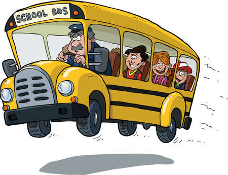 Illustration for School bus on white background vector illustration - Royalty Free Image