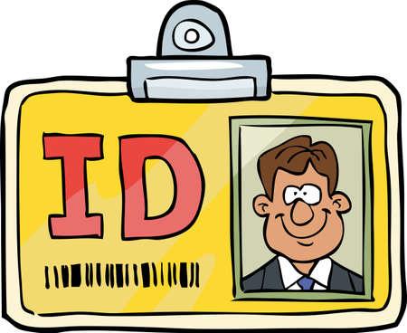 Illustration pour Cartoon doodle id identification card vector illustration - image libre de droit