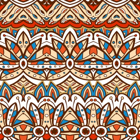 Seamless ethnic aztec illustration decorative background pattern in vector