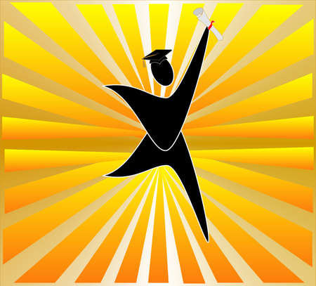 Graduating and celebrating the start of a new world for you....