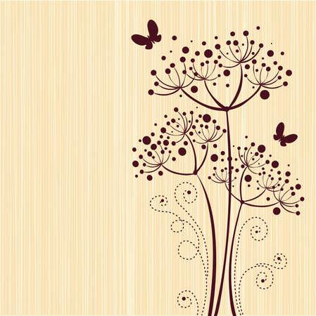 Ivory floral design