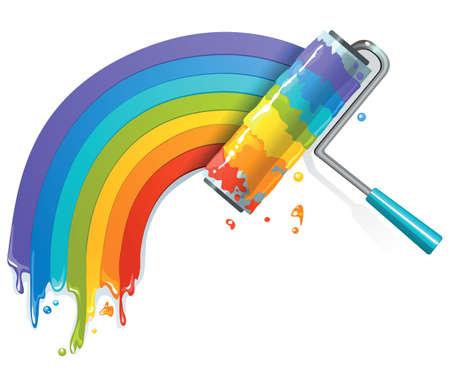 Illustration for Rainbow brush - Royalty Free Image