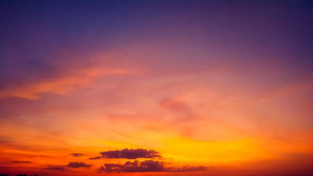 Photo pour blue sky and silky cloud golden hour time at morning or evening nature background - image libre de droit