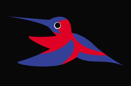 Colibri, hummingbirds. Illustration of a flying colorful Colibri. Bird of hummingbirds. Vector drawing for logo or Illustration.