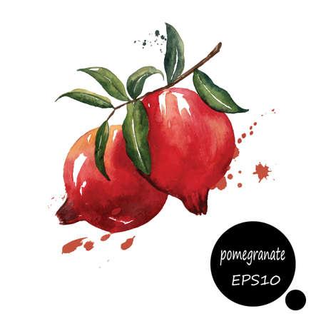 Illustration pour style design for the label, cover, book fruit plant paper texture blots brush illustration EPS10 - image libre de droit