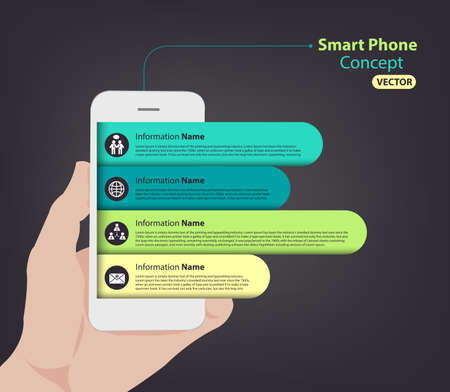 Smart Phone infographic for slideshow and presentation