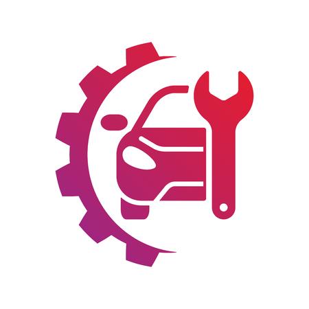 Illustration pour Auto service sign. Car repair logo. EPS 10 - image libre de droit