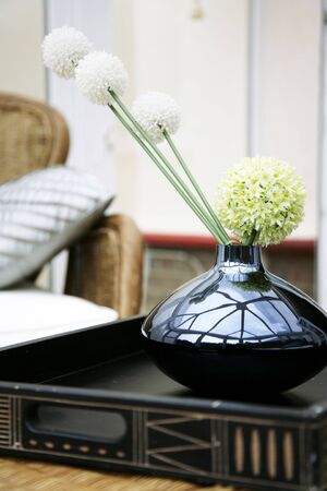 A beautiful flower display in a designer home