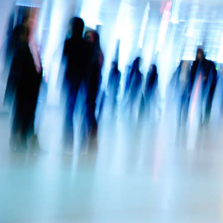 business people background blur motion