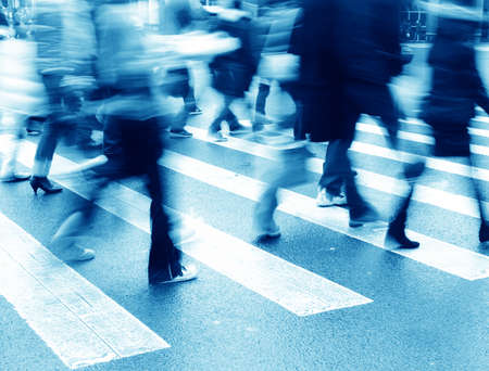 Photo for people on zebra crossing street - Royalty Free Image