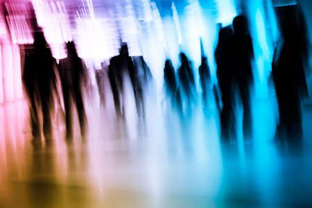 Business passenger walk at subway station