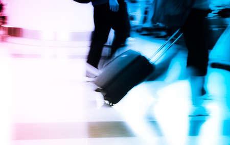 walking city passenger blur motion
