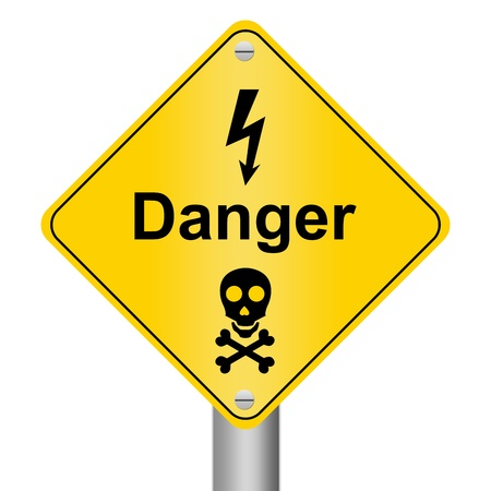 Electricity Danger Zone Warning Sign