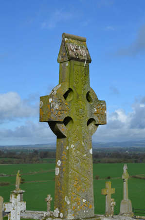 Stone crosses in the cemetery outside of the Rock of Cashel.