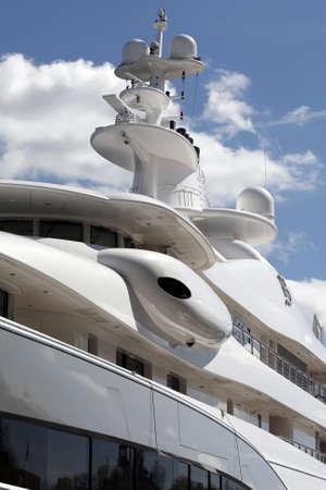 Stockholm, Schweden - 15. Mai 2013: Luxus Motor Yacht