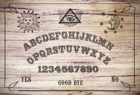 Photo for Ouija Board. Ouija style talking spirit board. - Royalty Free Image