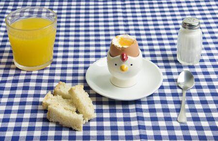 a boiled egg for breakfast