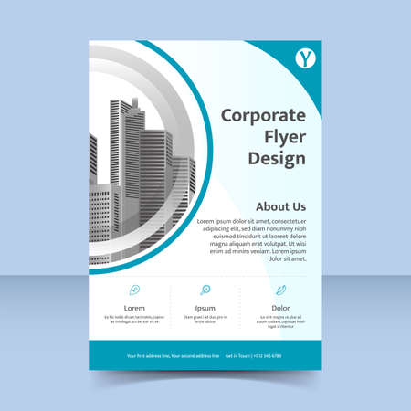 Illustration pour water ripple fresh blue Corporate business flyer poster template design - image libre de droit