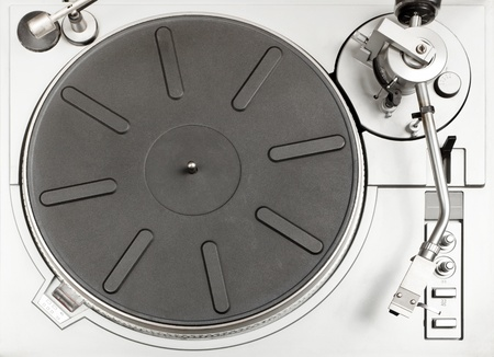 Turntable - dj's vinyl player, view from above.