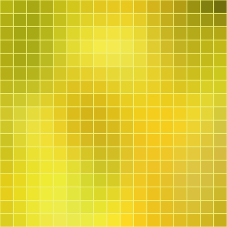 Illustration for Vector abstract mosaic yellow tile background, square format. - Royalty Free Image