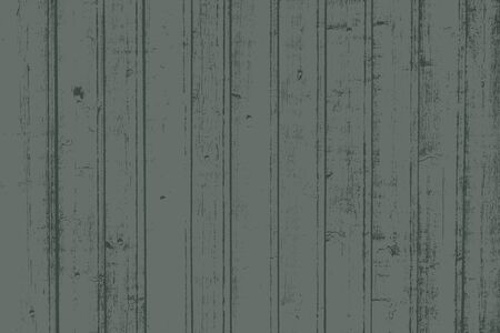 Illustration pour Grunge wood overlay horizontal texture. Vector illustration background in dark muted green, horizontal format. Natural rustic distressed backdrop. - image libre de droit