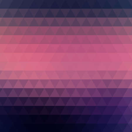 Illustration pour Vector abstract geometric background formed with triangles in rows, square format. Dark blue and pink wallpaper. - image libre de droit