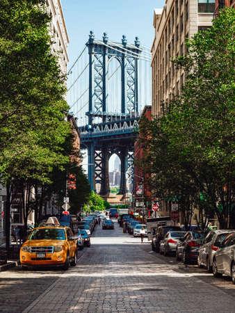 Famous Manhattan Bridge in New York City