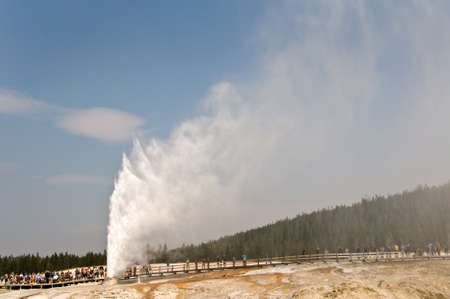 Beehive geyser, Yellowstone National Park, USA