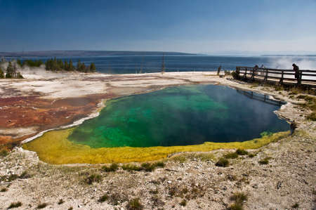 Colorful hot spring near Lake Yellowstone, USA
