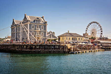 Cape Town Waterfront, a touristic place with shopping malls and restaurants