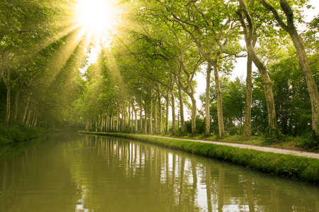 The Canal du Midi, southern France