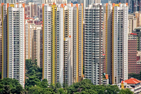 High rise apartments blocks in Singapore