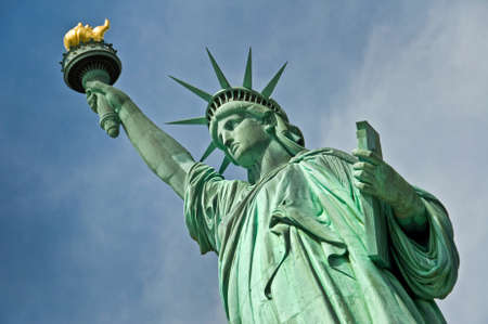 Close up of the statue of liberty, New York City, USA