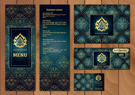 Vector illustration of a menu for a restaurant or cafe arabian vector illustration of a menu for a restaurant or cafe arabian oriental cuisine business cards reheart Choice Image