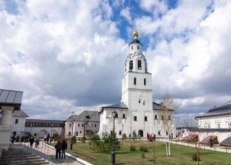 Bell tower of the assumption monastery of Sviyazhsk island, Tatarstan Republic, Russia.