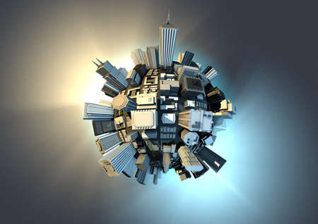 Photo for Planet city - Royalty Free Image