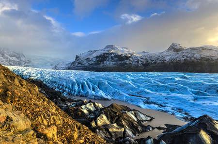 Skaftafellsjokull Glacier in Iceland, part of Vatnajoekull National Park
